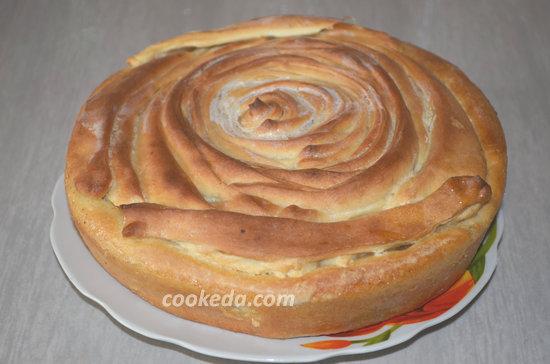 Пасхальный пирог из яблок-15