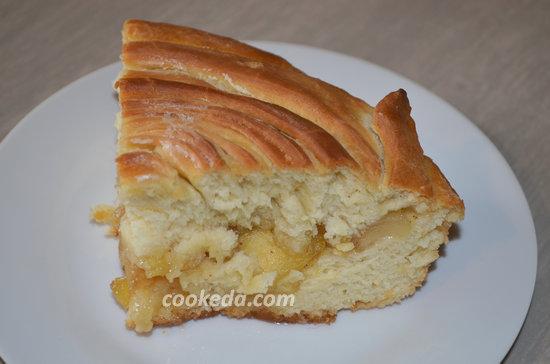 Пасхальный пирог из яблок-16