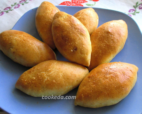 Пирожки на кефире в духовке-17