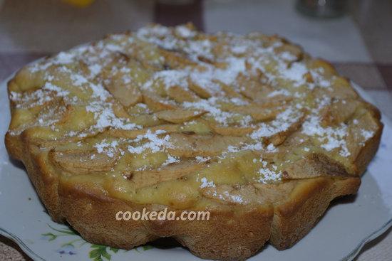 Шарлотка с яблоками - пошаговый рецепт-11