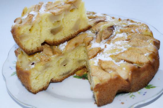 шарлотка с яблоками поошаговый рецепт