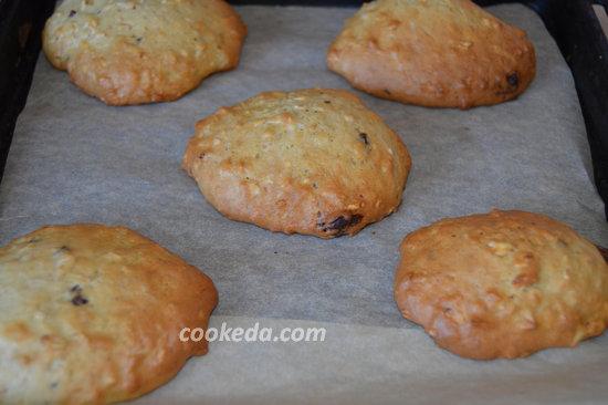 Печенье из овсяных хлопьев с шоколадом-08