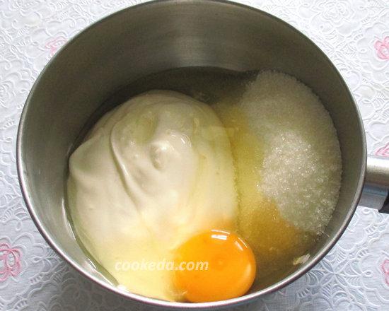 Рулет бисквитный с творожным кремом-13