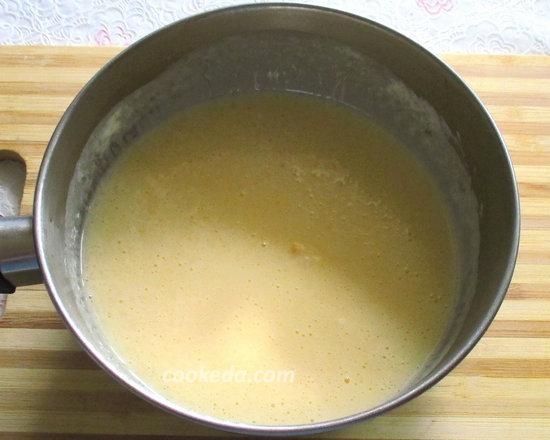 Рулет бисквитный с творожным кремом-14
