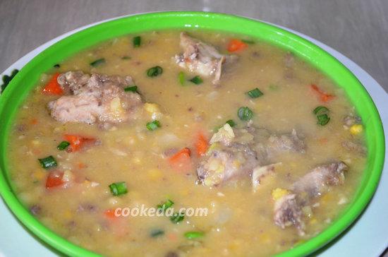 Гороховый суп с курицей-01