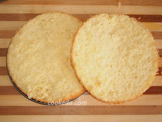 бисквитный сливочно-йогуртовый торт-10