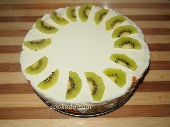 бисквитный сливочно-йогуртовый торт-18