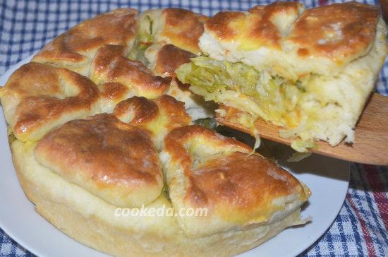 Пирог с капустой в духовке-17