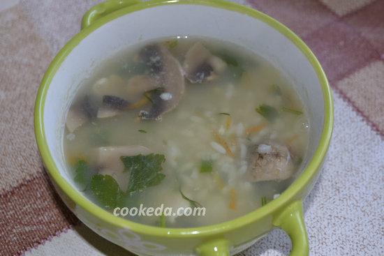 Рисовый суп с курицей-11