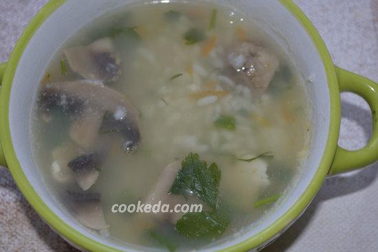 Рисовый суп с курицей-12