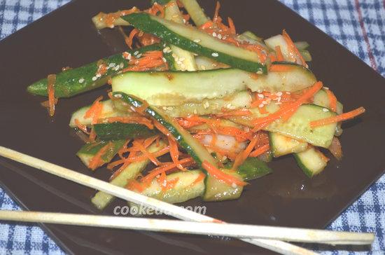 Салат из огурцов по-корейски-11