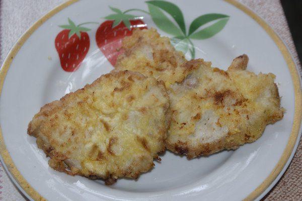 отбивные из свинины в кляре с сыром на сковороде