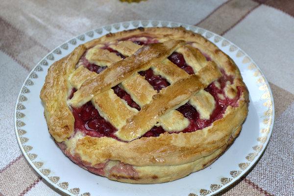 Пирог пьяная вишня рецепт с пошаговым фото