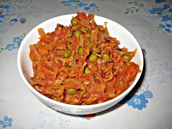 Капуста тушёная с овощами-14