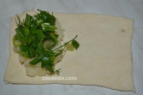 Лепешки с картошкой и зеленью-10