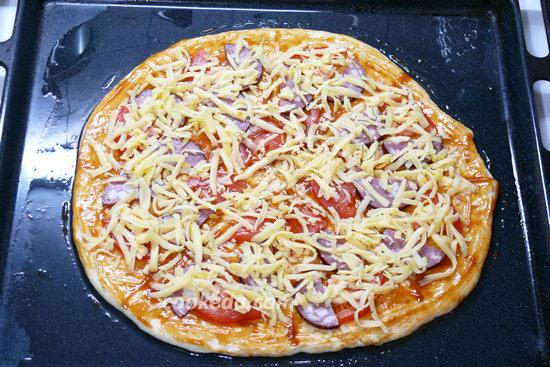 Пицца на тонком тесте-13