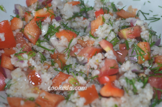 Теплый салат с ячневой крупой-10