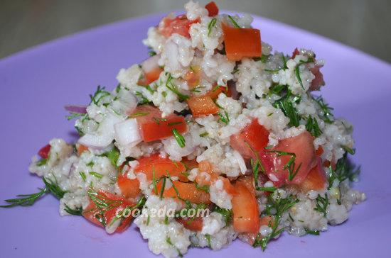 Теплый салат с ячневой крупой-11