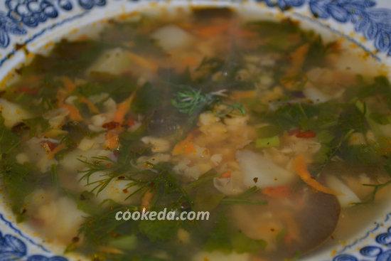 Гороховый суп с бараньей шеей-11