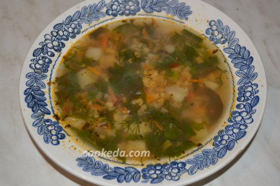 Гороховый суп с бараньей шеей-12