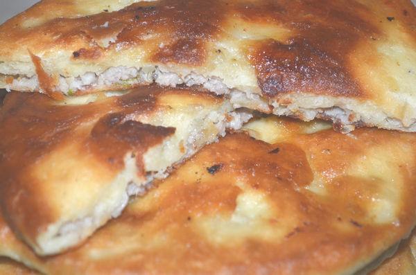 Хычины с мясом рецепт пошаговый на сковороде