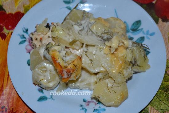 Картофельная запеканка с курицей-12