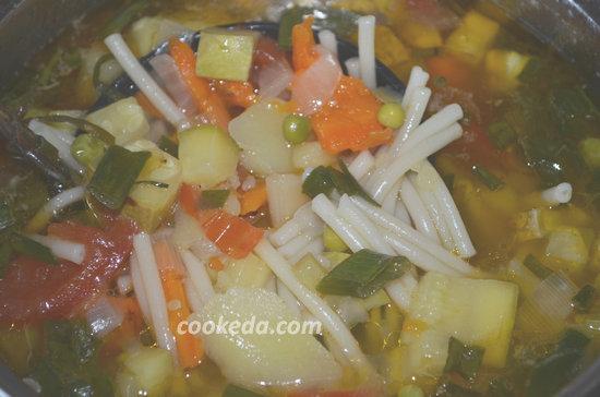 Суп минестроне11
