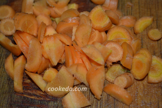 Стручковая фасоль с морковью и чесноком-03
