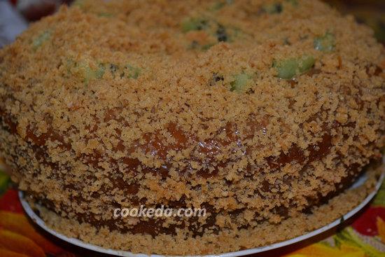 Бисквитный торт со сгущенкой-21