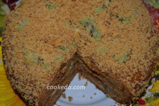 Бисквитный торт со сгущенкой-23