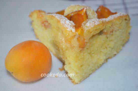 пирог с абрикосами-11
