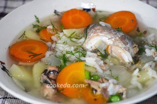Суп из консервированной сайры-07