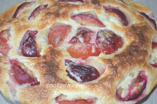 Пирог со сливами-11