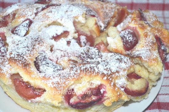Пирог со сливами-12