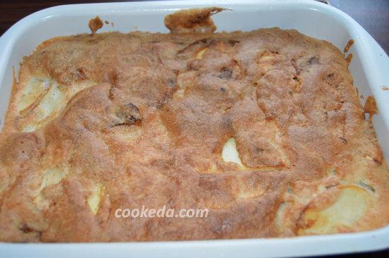 пирог с яблоками в духовке - выпечка