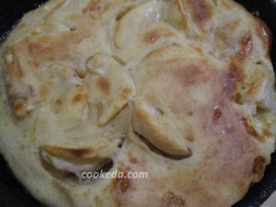 швейцарский омлет с яблокам-10