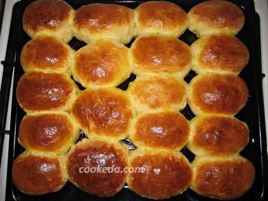 Духовые пирожки с творогом-27