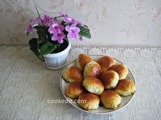 Духовые пирожки с творогом-28