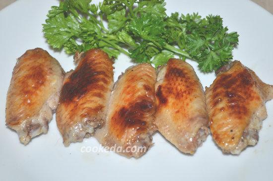 куриные крылья в винно-медовом маринаде-08