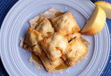 Соленое карамельное печенье с яблоками