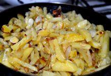 Жареная картошка с кабачками