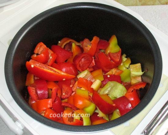 лечо из болгарского перца с помидорами на зиму-16