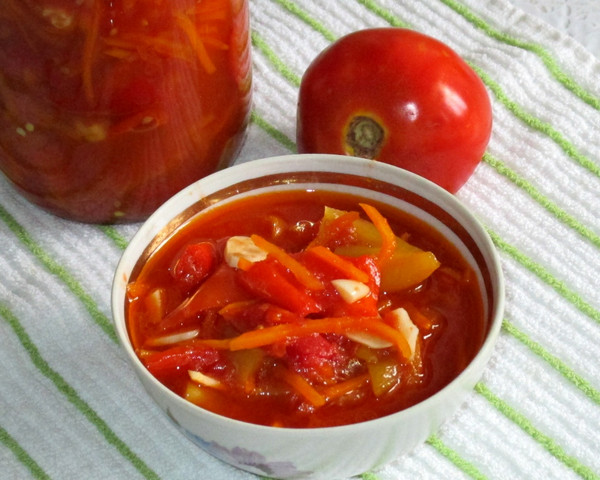 из болгарского перца с помидорами на зиму