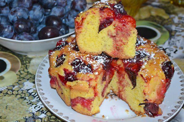 сливовый пирог