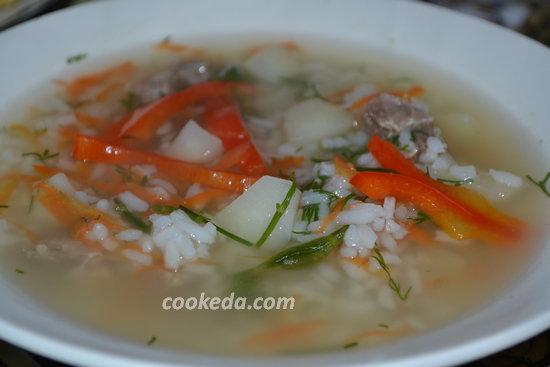 Рисовый суп с мясом-08