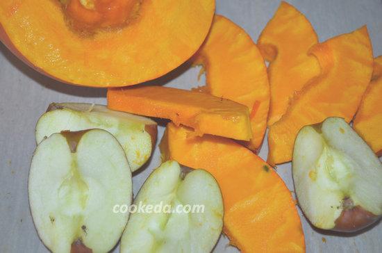 Десерт из тыквы и яблок-04