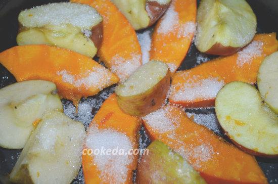 Десерт из тыквы и яблок-05