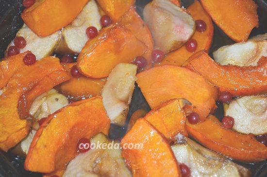 Десерт из тыквы и яблок-06