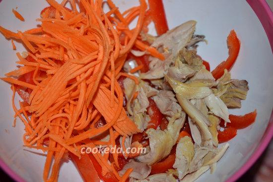 салат с фунчозой и курицей-07