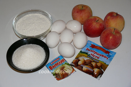 Простая шарлотка с яблоками-02
